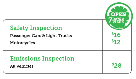 Virginia State and Virginia Emissions Inspection Fees