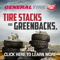 Buy four qualifying General brand Passenger or Light Truck Tires and receive either a $70 or $50 VISA prepaid card. Valid between Aug 27 to Oct 3<sup>rd</sup>, 2014.