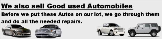 We sell Used Cars