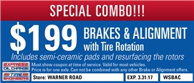 $199 Brakes & Alignment Service with Tire Rotation, Tempe, Arizona