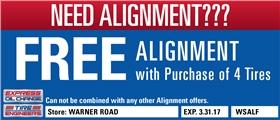 Free Alignment Coupon, Tempe, Arizona