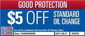 $5 Off Standard Oil Change - Thunderbird