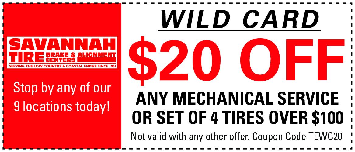 Savannah tire discount coupons