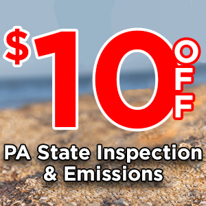 $10 Coupon for PA State Inspection And Emissions