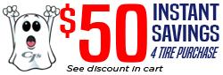 $50 in Spooktacular Savings