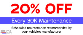 20% Off Every 30K Maintenance. Scheduled maintenance recommended by your vehicle's manufacturer.