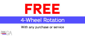 Free 4-Wheel Rotation. With any purchase or service.