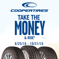 Buy a set of four (4) qualifying Cooper tires and get up to $70 Cooper Tires Prepaid Card