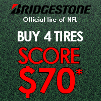 Get a $70 Bridgestone Visa<sup>®</sup> Prepaid Card by mail when you buy 4 eligible tires.