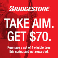 Take Aim. Get $70. Purchase a set of 4 eligible tires this spring and get rewarded.