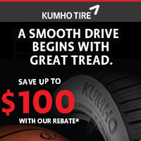 Buy 4 qualifying Kumho Tires and get up to $100 by Mail-in Rebate.