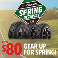 Buy a set of four (4) select Yokohama tires from April 15 to May 31, 2017 and get up to $80 Yokohama Visa® Prepaid Card or Chelsea FC 2016/17 Jersey.