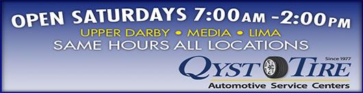 Qyst Tire Auto Service Open Saturday 7 AM-2 PM