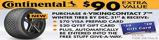 Qyst Continental VikingContact 7 Winter Tire Promo
