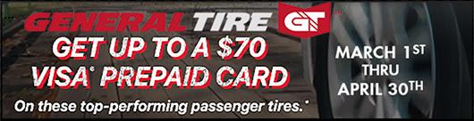 Qyst Tire General Tire Visa Card Promotion