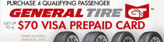QYST TIRE COUPONS AND GENERAL TIRE PROMO