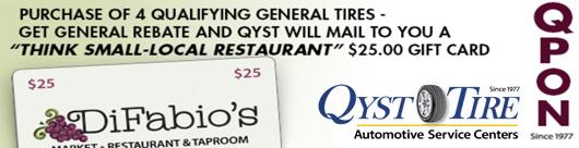 QYST DiFabios Restaurant 19063 GENERAL TIRE