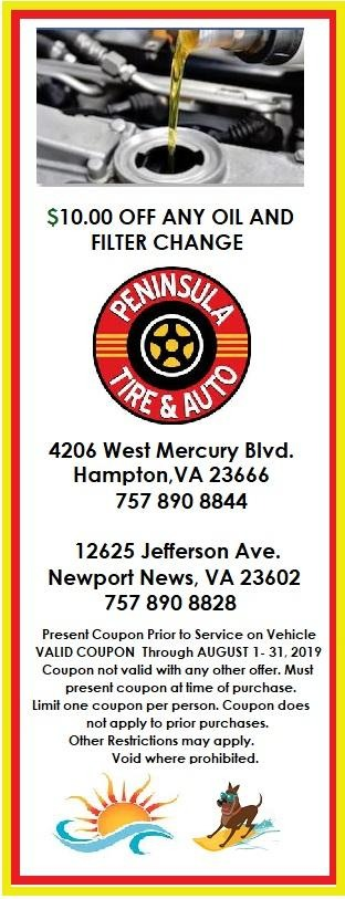 $10 off any oil and filter change