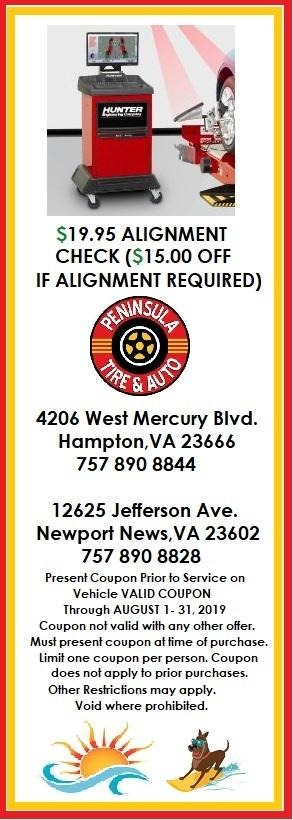 $19.95 Alignment Check - $15 off if alignment required