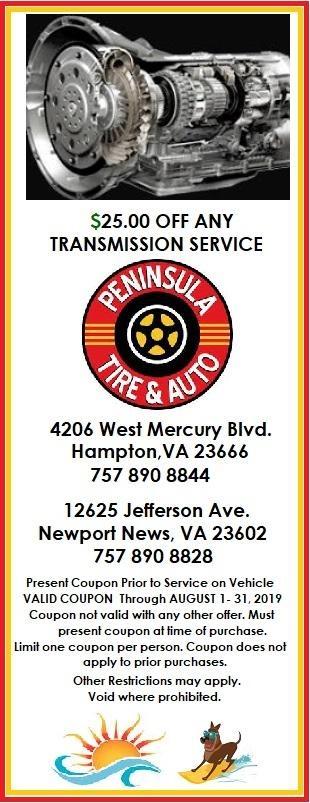 $25 off any transmission service