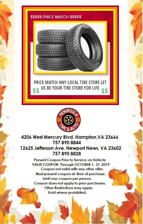 Price Match Any Local Tire Store. Let Us Be Your Tire Store For Life!