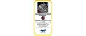 $25 off Any Front or Rear Brake PAD Replacement and ROTOR Resurface or Replacement