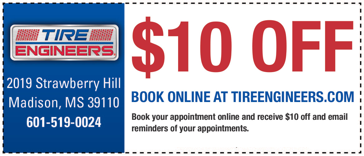 Discount coupons at tire engineers