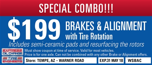 $199 Brakes and Alignment with Tire Rotation