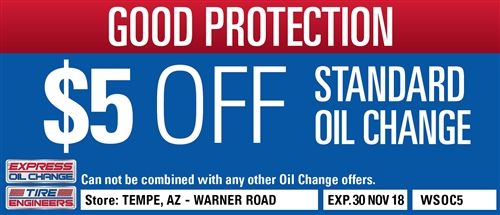 $5 Off Standard Oil Change