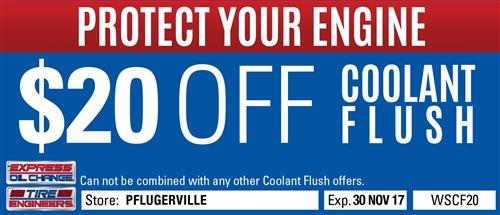 $20 off coolant flush