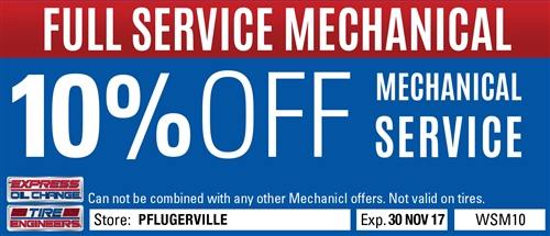 10% off mechanical service