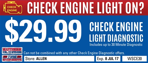 $29.99 Check Engine Light Diagnostic
