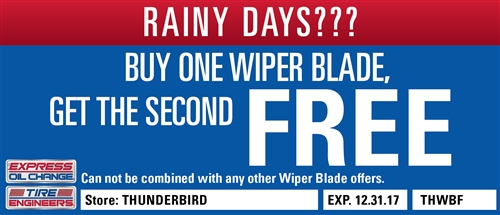 Buy One Wiper Blade, Get the Second FREE