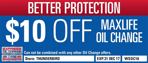 $10 Off MaxLife Oil Change