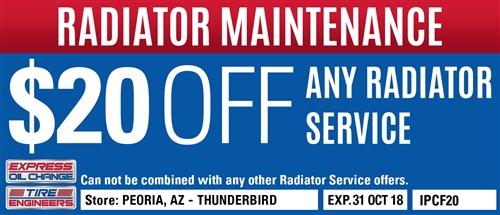 $20 off any radiator service