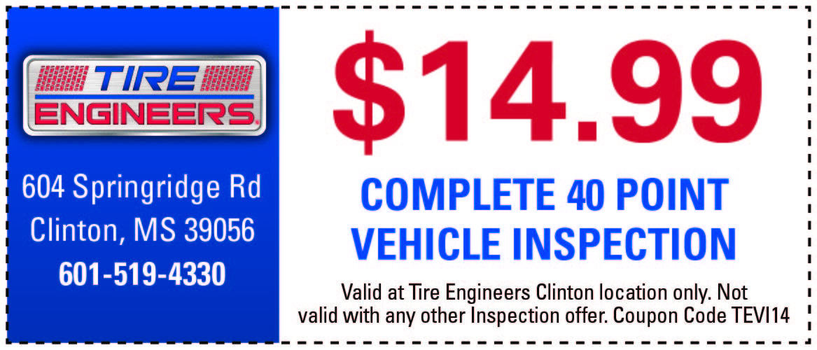 Tire Engineers Coupon Clinton MS