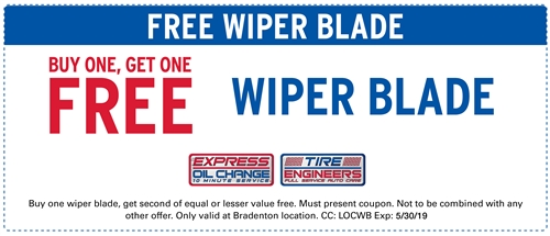 Buy one get one wiper blade